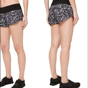 Lululemon Floral Speed Up Shorts